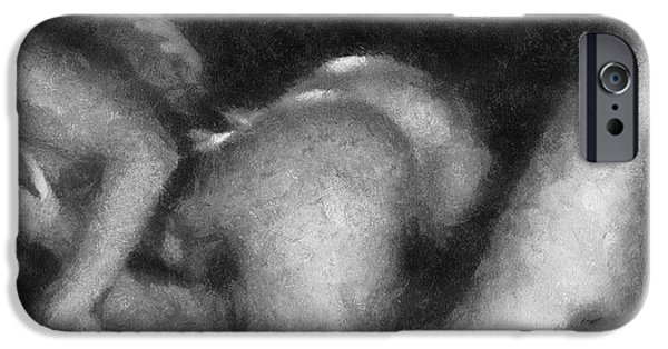 Recently Sold -  - Pleasure iPhone Cases - Suckle Erotica BW iPhone Case by Thomas Woolworth