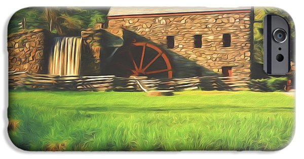 Sudbury River iPhone Cases - Sudbury Grist Mill iPhone Case by Steve Bailey