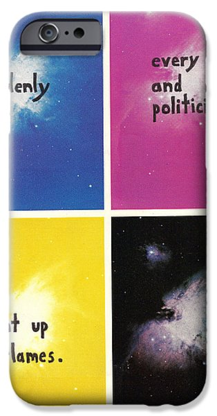 Police iPhone Cases - Suddenly Every Cop And Politician Went Up In Flames iPhone Case by Neil Campau