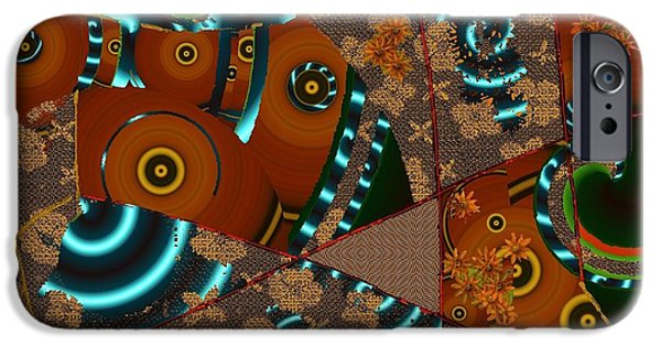 Nature Abstract Tapestries - Textiles iPhone Cases - Suede Twirl iPhone Case by Claire Masters
