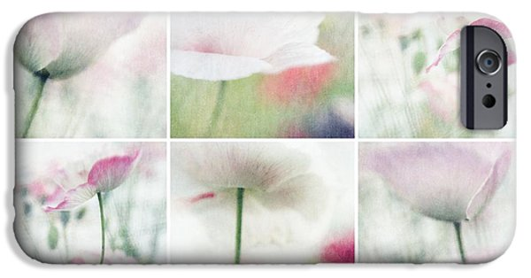 Close Up Floral iPhone Cases - Suffused With Light Collage iPhone Case by Priska Wettstein