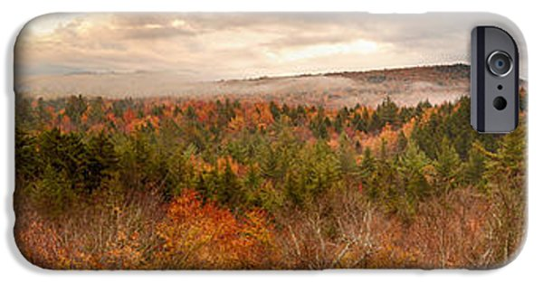 Ledge iPhone Cases - Sugar Hill Pano New Hampshire iPhone Case by Jack Nevitt