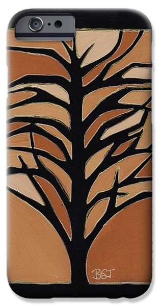 Earth Tones Drawings iPhone Cases - Sugar Maple iPhone Case by Barbara St Jean