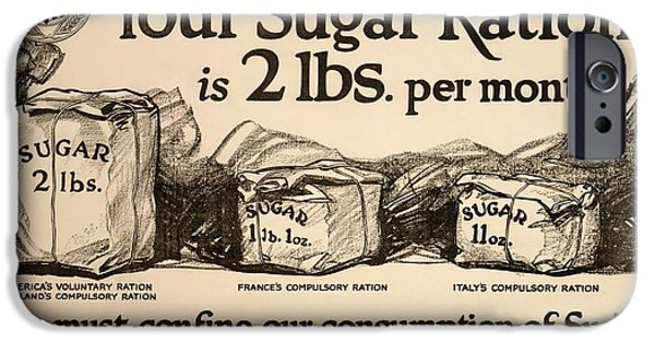 World War One iPhone Cases - Sugar Rationing Advert, World War I iPhone Case by Library Of Congress