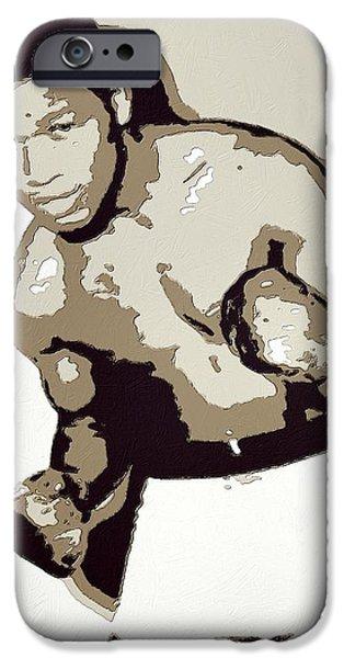 Boxer Digital iPhone Cases - Sugar Ray Robinson iPhone Case by Florian Rodarte