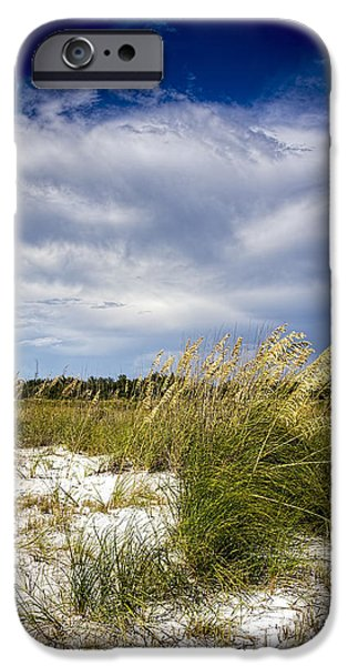 Salt Air iPhone Cases - Sugar Sand and Sea Oats iPhone Case by Marvin Spates