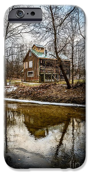 Hobart iPhone Cases - Sugar Shack in Deep River County Park iPhone Case by Paul Velgos