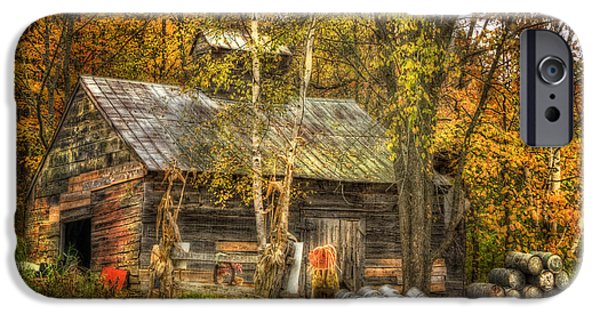New England Dairy Farms iPhone Cases - Sugarhouse at Sugarbush Farm - Woodstock Vermont iPhone Case by Joann Vitali