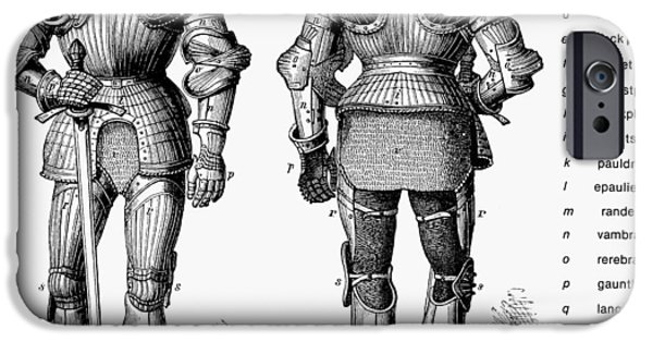 Breastplate iPhone Cases - Suit Of Armor iPhone Case by Granger