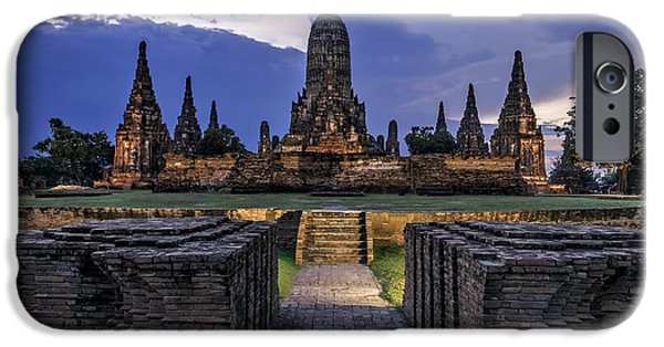 Historic Site iPhone Cases - Temple iPhone Case by Maria Coulson