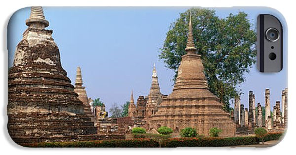 Historic Ruins iPhone Cases - Sukhothai Historical Park Thailand iPhone Case by Panoramic Images