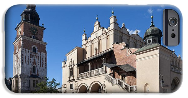 Town Square iPhone Cases - Sukiennice, The Renaisssance Cloth Hall iPhone Case by Panoramic Images