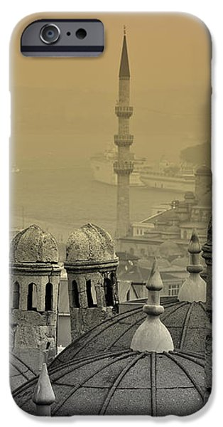 Suleymaniye mosque and New Mosque in Istanbul iPhone Case by Ayhan Altun