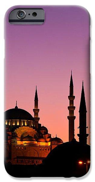 Suleymaniye Sundown Triptych 01 iPhone Case by Rick Piper Photography