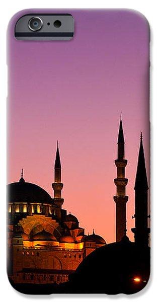 Suleymaniye Sundown Triptych 05 iPhone Case by Rick Piper Photography