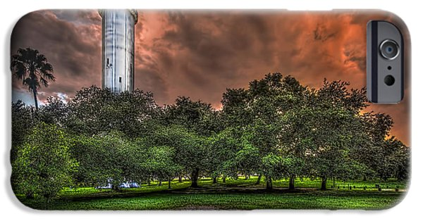Abandoned Buildings iPhone Cases - Sulfur Springs Tower iPhone Case by Marvin Spates