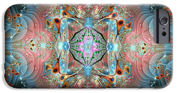 Fractal Other Worlds iPhone Cases - Sultans Magic Carpet iPhone Case by Mary Almond