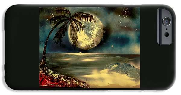 Best Sellers -  - Moonscape iPhone Cases - Sultry Moonlight iPhone Case by Rochelle Midro