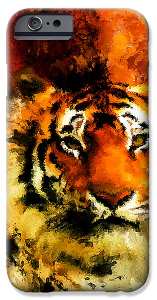 Wild Animals iPhone Cases - Sumatran iPhone Case by Lourry Legarde