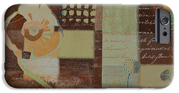 Brown Mixed Media iPhone Cases - Summer 2014 - j088097112-brown01 iPhone Case by Variance Collections