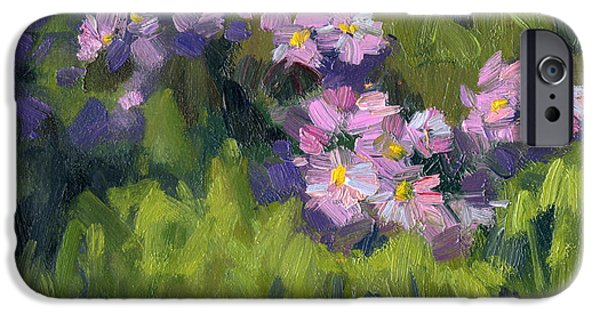 Summer iPhone Cases - Summer Asters iPhone Case by Diane McClary