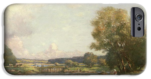 Summer iPhone Cases - Summer at Hemingford Grey iPhone Case by William Kay Blacklock
