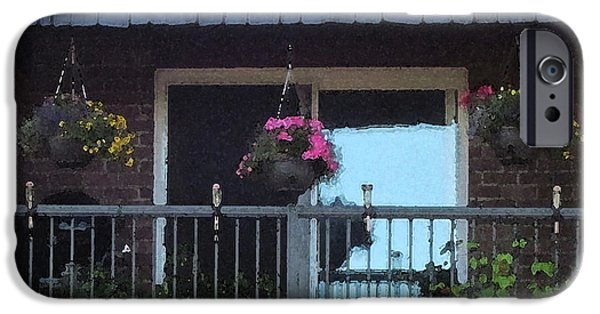 Business iPhone Cases - Summer Balcony iPhone Case by Donald S Hall