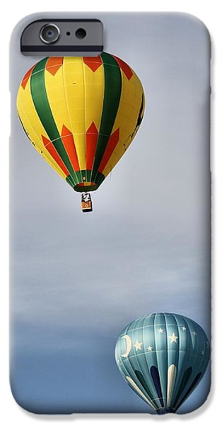 Hot Air Balloon iPhone Cases - Summer Balloons iPhone Case by Dan Sproul