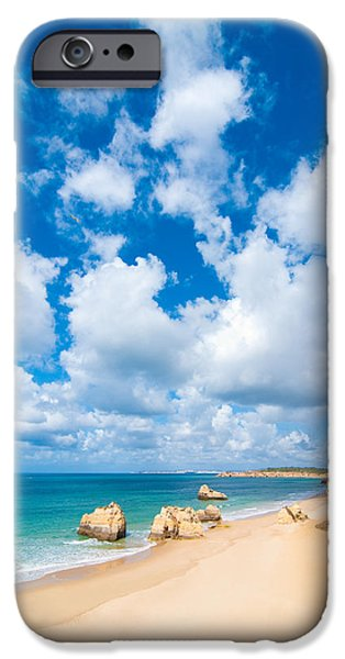 Beach Landscape iPhone Cases - Summer Beach Algarve Portugal iPhone Case by Amanda And Christopher Elwell