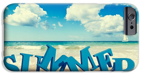 Summer iPhone Cases - Summer Beach iPhone Case by Amanda And Christopher Elwell