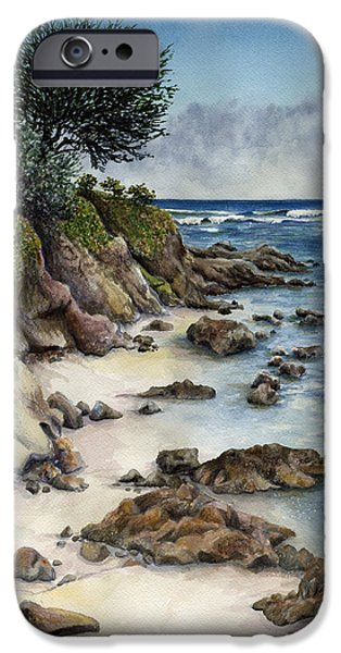 Beach iPhone Cases - Summer Beach iPhone Case by Karen Wright