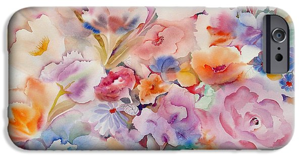 Tasteful Art iPhone Cases - Summer Blooms iPhone Case by Neela Pushparaj