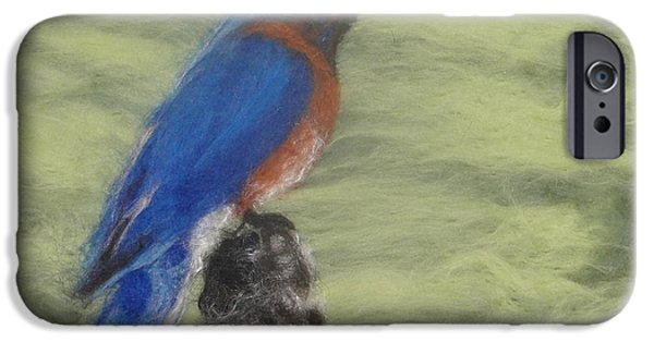 Photographs Tapestries - Textiles iPhone Cases - Summer Blue Bird iPhone Case by Shakti Chionis