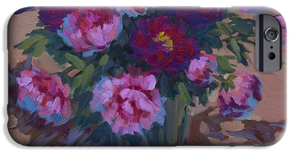 Summer iPhone Cases - Summer Bouquet iPhone Case by Diane McClary