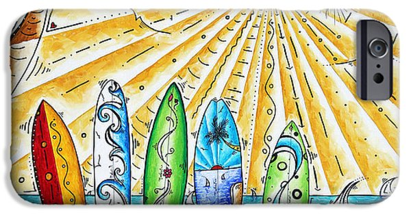 Sail Board iPhone Cases - Summer Break by MADART iPhone Case by Megan Duncanson