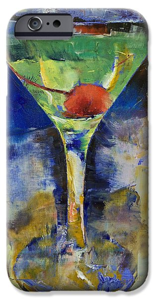 Michael Paintings iPhone Cases - Summer Breeze Martini iPhone Case by Michael Creese