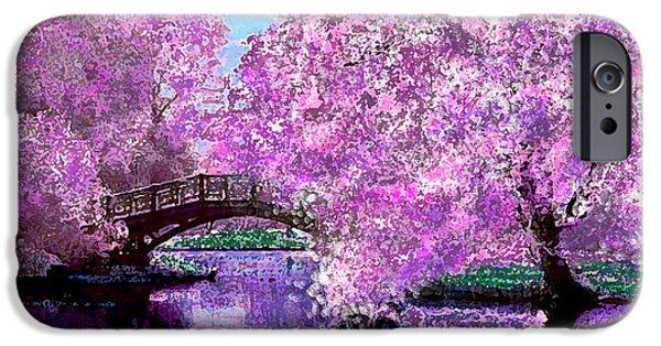 Floral Digital Art Digital Art iPhone Cases - Summer Bridge iPhone Case by Michele  Avanti