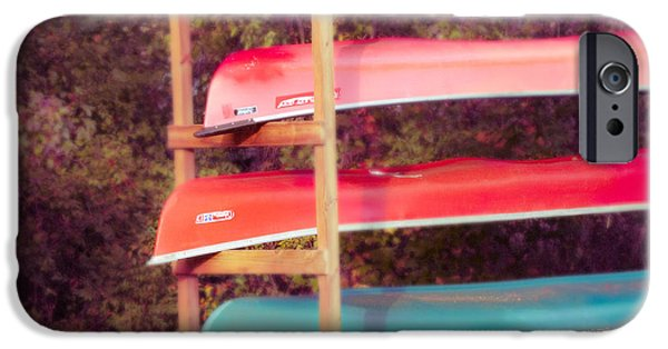 Canoe iPhone Cases - Summer Canoes iPhone Case by Sonja Quintero