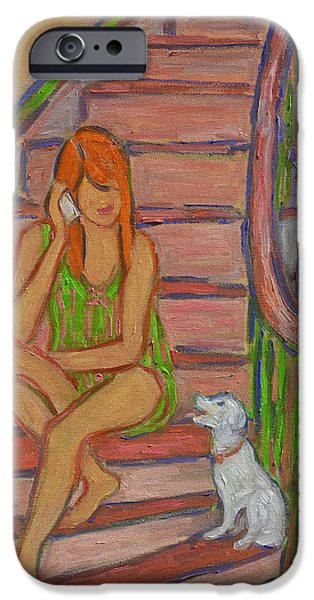 Summer Chat iPhone Case by Xueling Zou