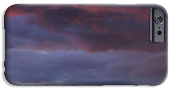 Sunset Glass Art iPhone Cases - Summer Storms Brewing iPhone Case by Marsha Painter