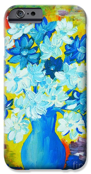 Marine iPhone Cases - Summer Daisies iPhone Case by Ramona Matei