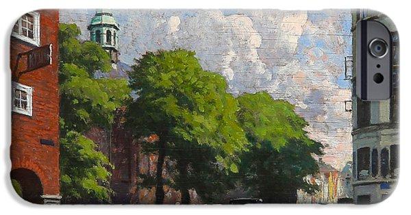 Reform iPhone Cases - Summer Day at the Reformed Church in Copenhagen iPhone Case by Paul Gustav Fischer