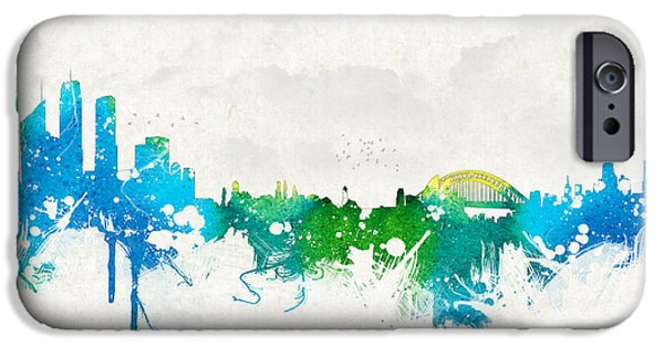 Buildings Mixed Media iPhone Cases - Summer day in Sydney Australia iPhone Case by Aged Pixel