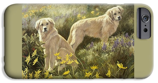 Dogs iPhone Cases - Summer Day iPhone Case by Lucie Bilodeau