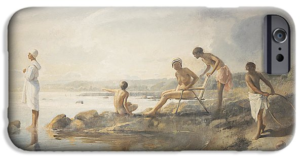 Bathing iPhone Cases - Summer day iPhone Case by Odd Nerdrum