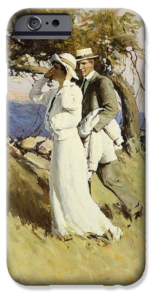 Women Together iPhone Cases - Summer Days iPhone Case by William Henry Dethlef Koerner