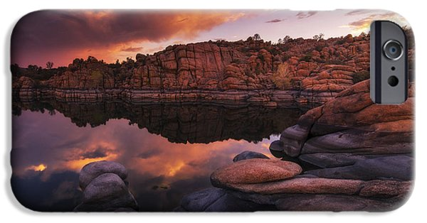 Prescott Arizona iPhone Cases - Summer Dells Sunset iPhone Case by Peter Coskun