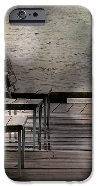Summer Dock Waterfront Fine Art Photograph iPhone Case by Laura  Carter