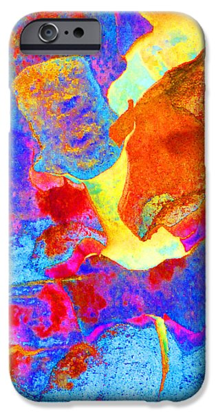 Summer Eucalypt Abstract 28  iPhone Case by Margaret Saheed
