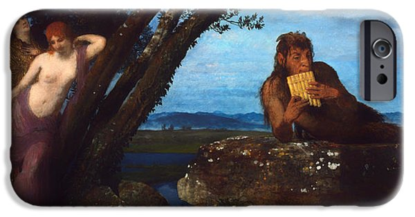 Ledge iPhone Cases - Summer Evening iPhone Case by Arnold Bocklin